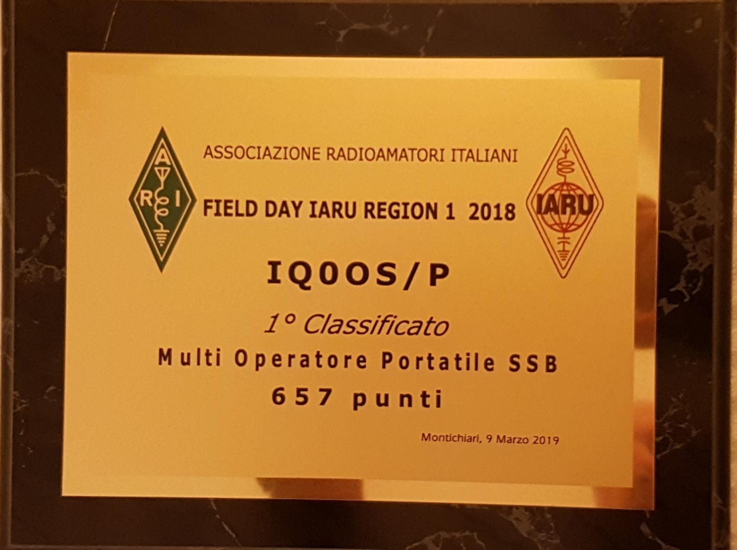 field day IARU Region 1 2018